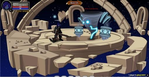 Não se preocupe, matando o monstro você é teleportado para o início da fase.