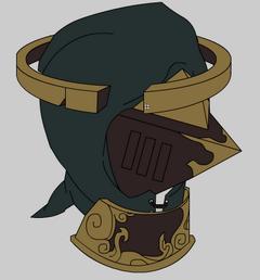 Um sketch de um capacete. Me lembra a armor pessoal da Veneeria.