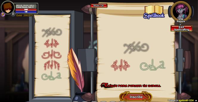 Formando um scroll