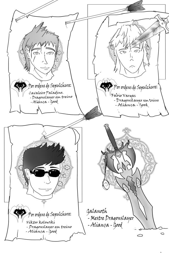 Acho que poderia ser a maneira como eu apresentaria os personagens nos proximos capitulos também...